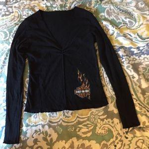 Harley-Davidson black long sleeve shirt Sz M